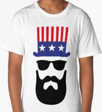 American Hipster (Beard / Bearded / Uncle Sam) Long T-Shirt