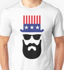 American Hipster (Beard / Bearded / Uncle Sam) T-Shirt