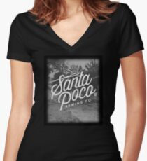 Three Amigos - Santa Poco Sewing Co. Women's Fitted V-Neck T-Shirt