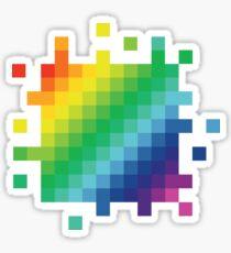 Bitmap Rainbow Sticker