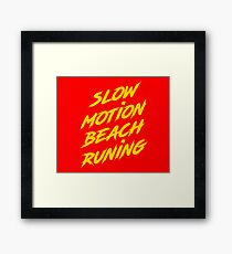 Beach Running Framed Print