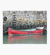 Red Boat, Portsoy Photographic Print