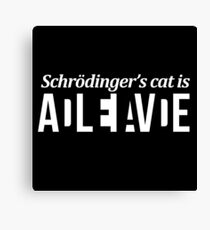 Schrödinger's cat // Funny Puzzle design  Canvas Print