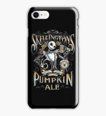 Nightmare Before Christmas - Skellingtons Pumpkin Ale iPhone Case/Skin