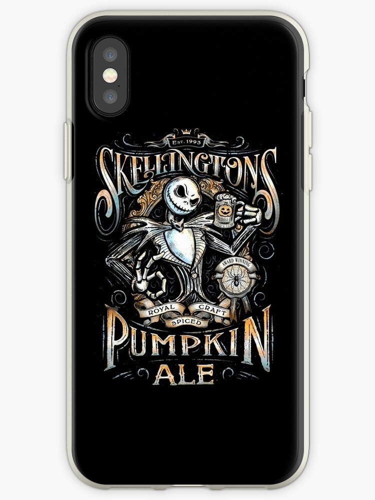 Nightmare Before Christmas Phone Case.Nightmare Before Christmas Skellingtons Pumpkin Ale Iphone Case By Unconart