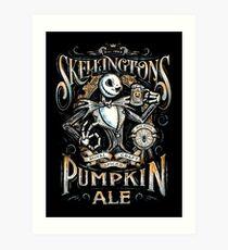 Nightmare Before Christmas - Skellingtons Pumpkin Ale Art Print