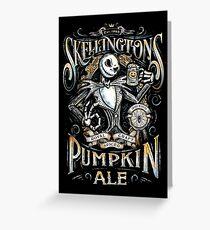 Nightmare Before Christmas - Skellingtons Pumpkin Ale Greeting Card