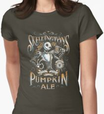 Nightmare Before Christmas - Skellingtons Pumpkin Ale Womens Fitted T-Shirt