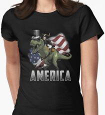 Abe Riding a Dinosaur!  T-Shirt