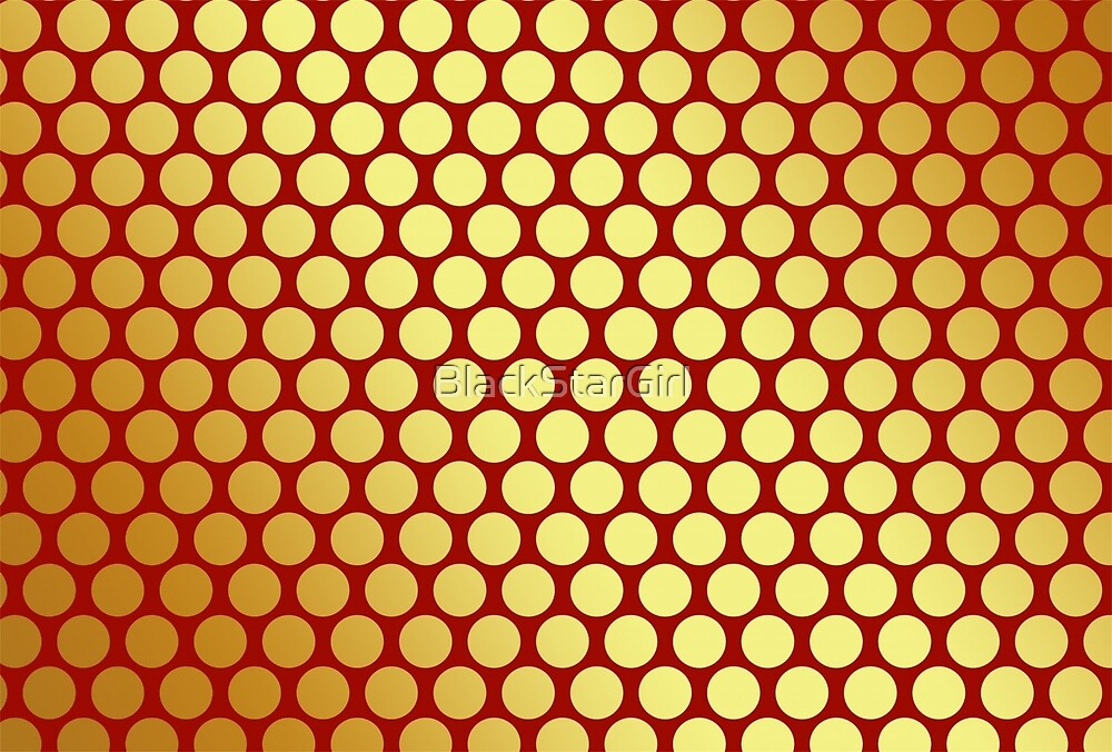 Gold Spots On Red by BlackStarGirl