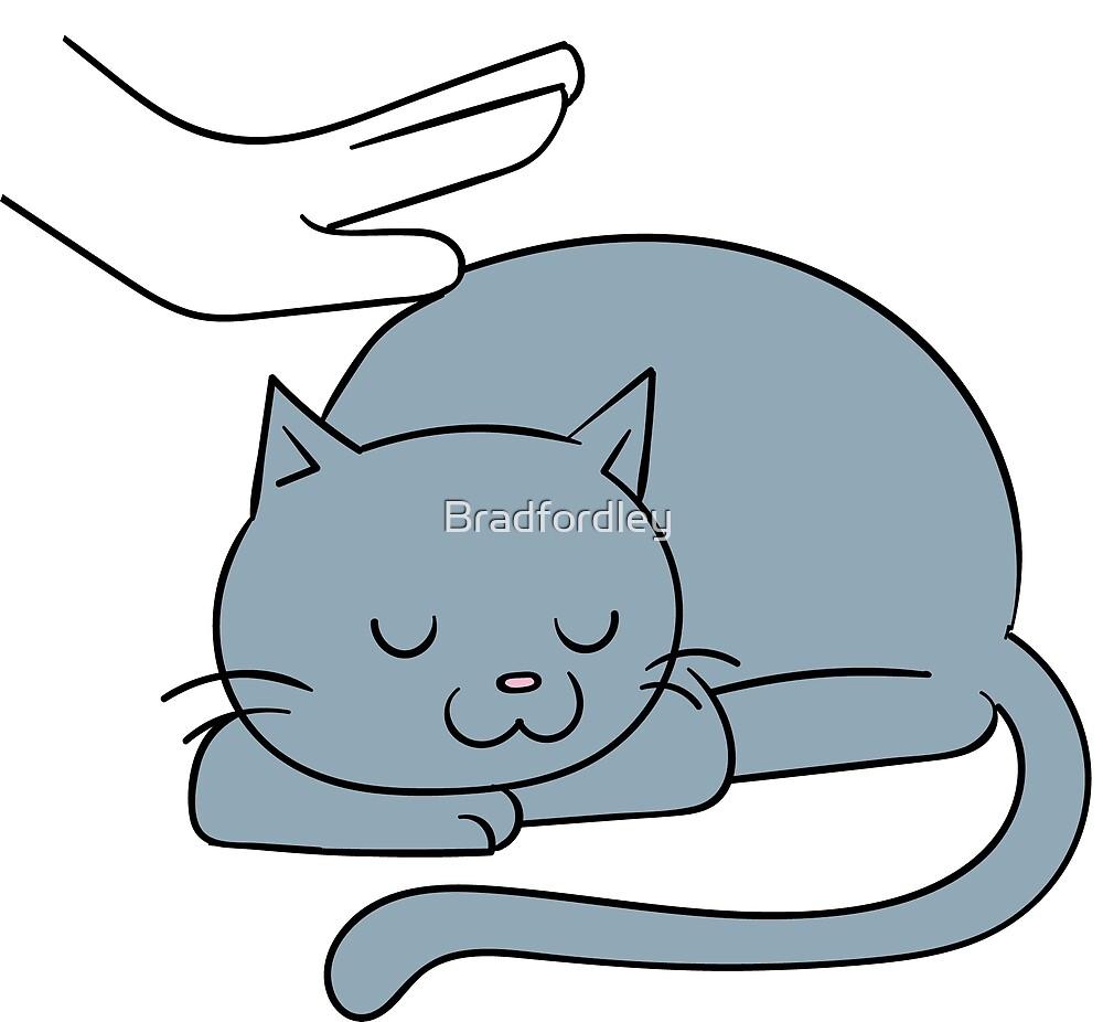 Petty Cat (on dark print) by Bradfordley