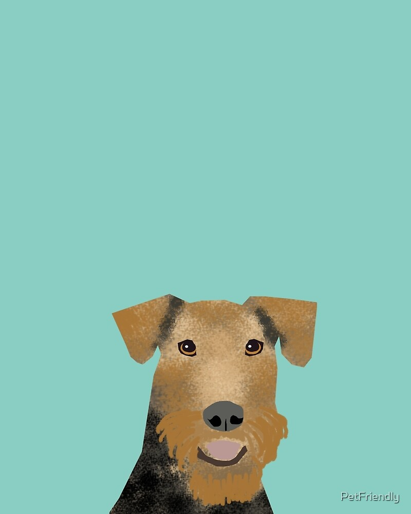 airedale terrier dog print airedale dogs by PetFriendly