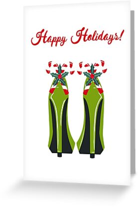 Green High Heels with Candy Canes by Ness Nordberg