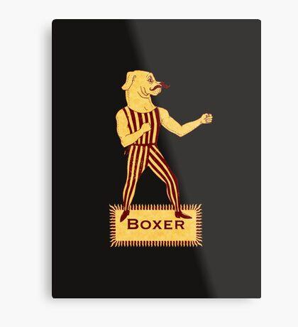 Boxer Dog Bonzo Bones Metal Print