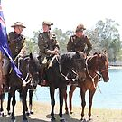 Mudgeeraba Light Horse Waiting For the Commemoration. by aussiebushstick