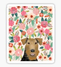 airedale, airedale terrier, dog, dogs, dog print, dog art, pet,  pet art, airedale art, airedale terrier art, airedale gift, gift shop, dog gifts,  Sticker