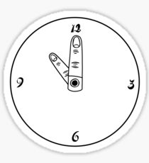 Point at the hour Sticker