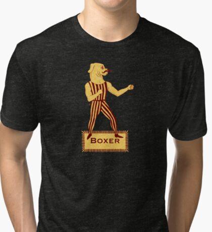 Boxer Dog Bonzo Bones Tri-blend T-Shirt