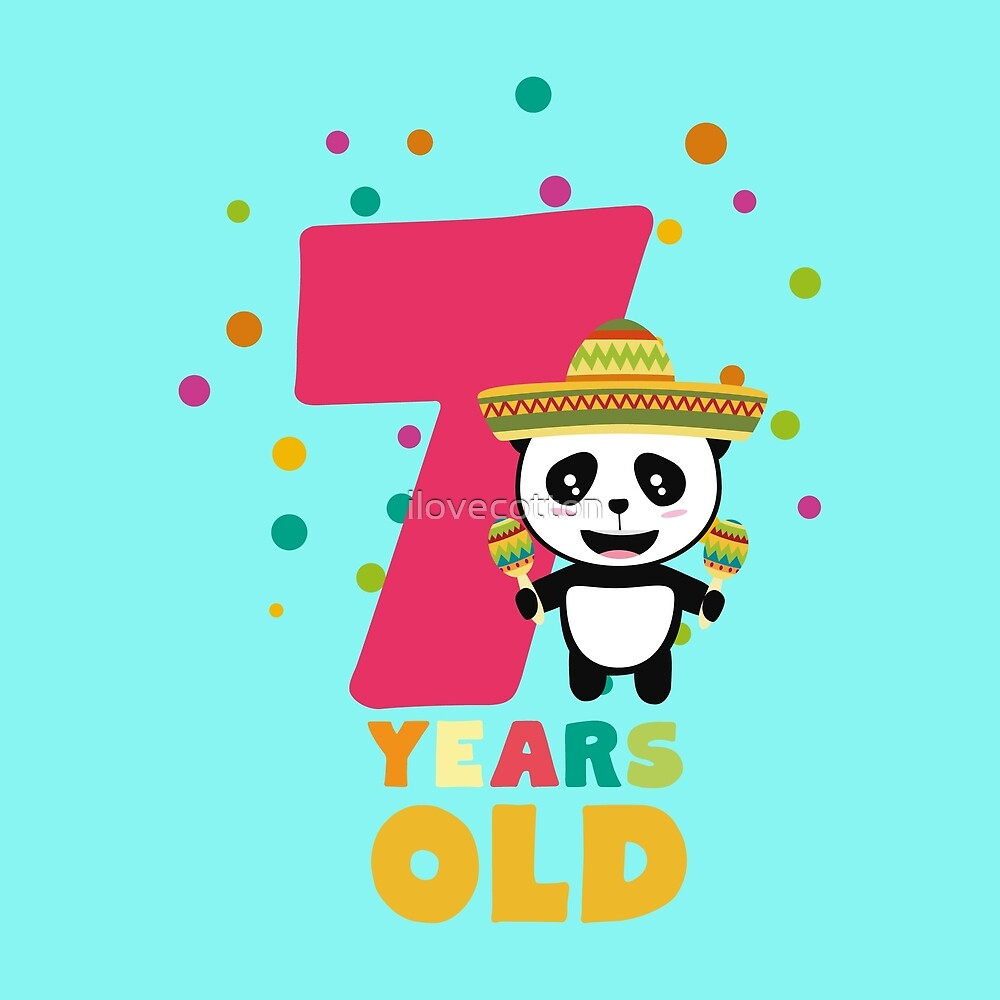 Seven Years seventh Birthday Party Panda Rdbcc by ilovecotton