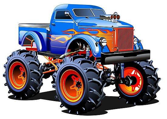 Monster Truck De Dessin Animé Impressions Photo Par Mechanick