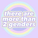 There Are More Than Two Genders • Non-Binary Pastel Design • riotcakes by riotcakes