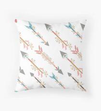 Colorful Hip Arrows Throw Pillow