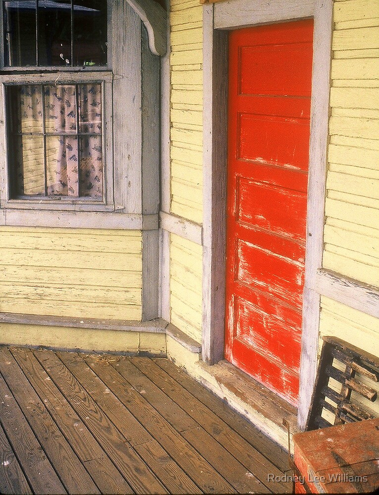 Red Door At Corner by Rodney Lee Williams