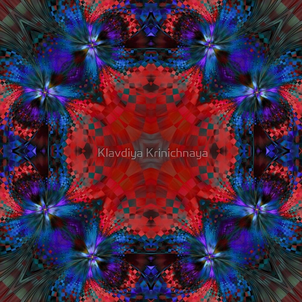 Red mosaic by Klavdiya Krinichnaya