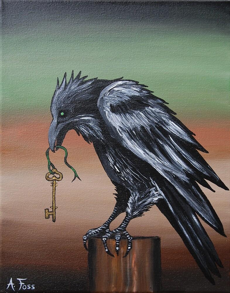 """""""She Holds the Sacred Key"""" by AmandaFossArt"""