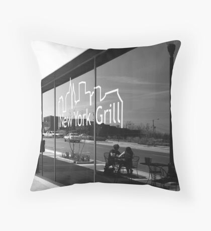 Reflection at the New York Grill Throw Pillow