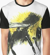 Bumblebee Watercolor Study 2 Graphic T-Shirt