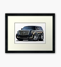 Cartoon luxury SUV Framed Print