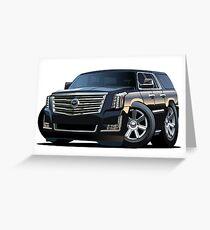 Cartoon luxury SUV Greeting Card