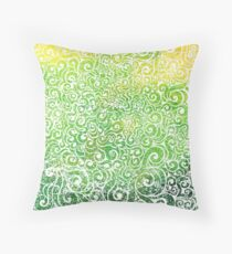 Swirly Chameleon Throw Pillow