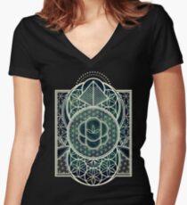 Ultra Sacred Geometry - Dark Women's Fitted V-Neck T-Shirt