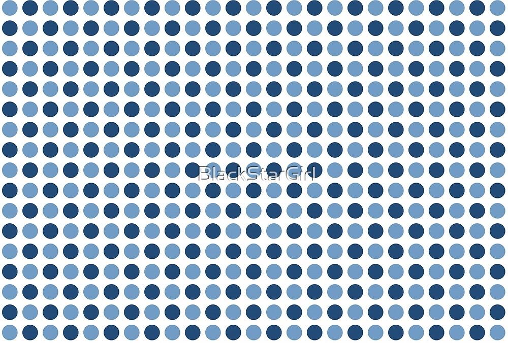 Blue Polka Dots Pattern by BlackStarGirl