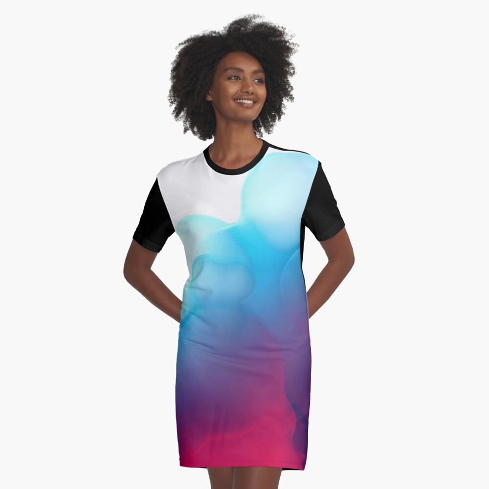 Dimensional Foam Graphic T-Shirt Dress Front