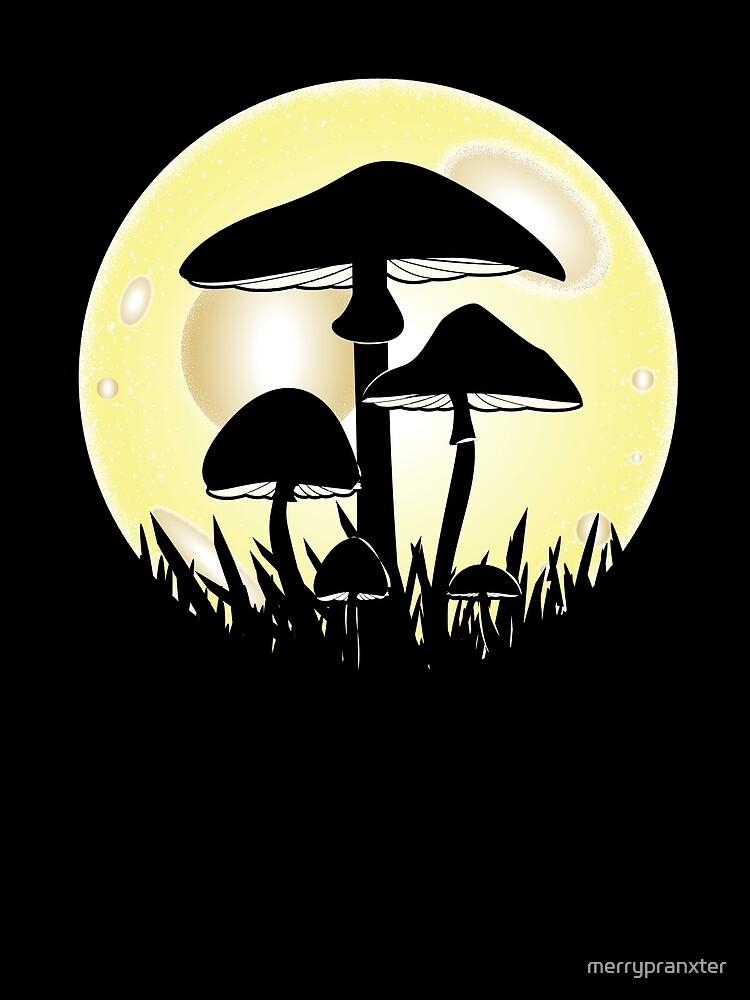 Mushrooms in Moonlight by merrypranxter