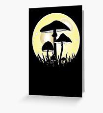 Mushrooms in Moonlight Greeting Card
