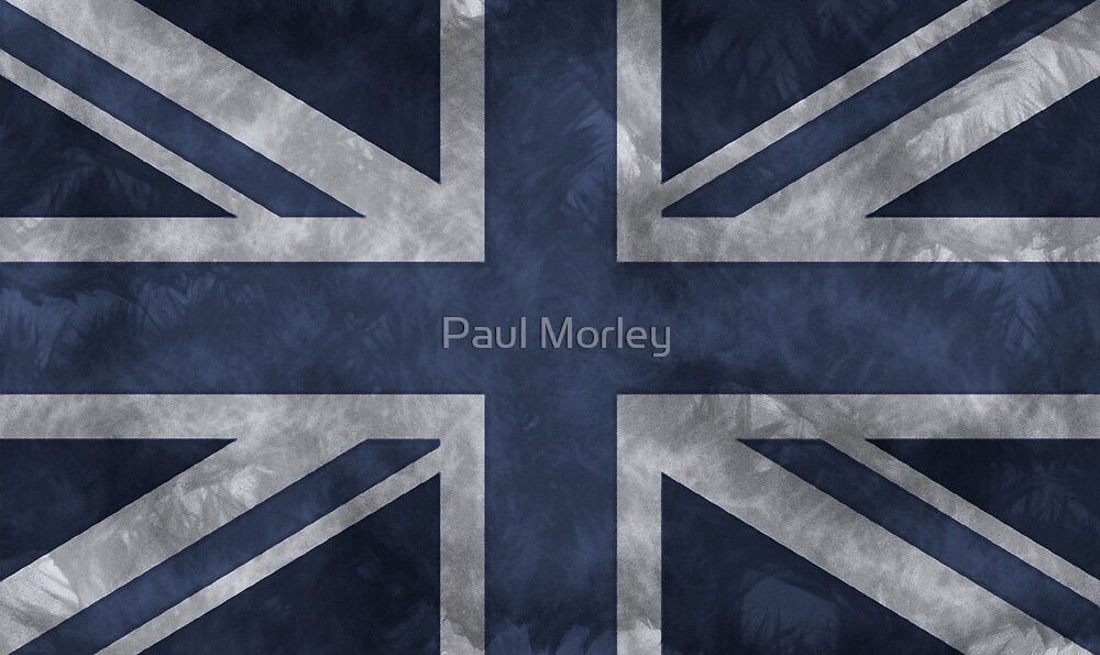 Blue Distressed Union Jack by Paul Morley