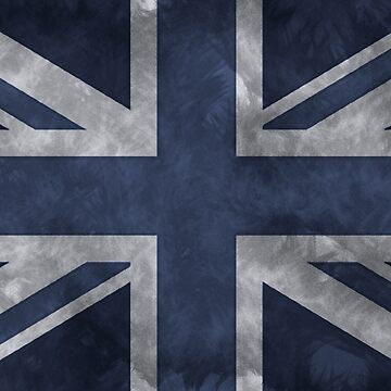 Blue Distressed Union Jack by pjmorley