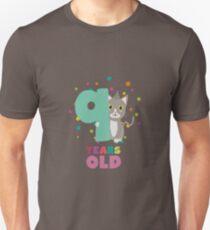 Nine Years 9th Birthday Party Cat Rsfzu Unisex T-Shirt