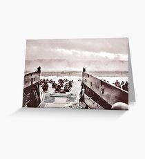 D-Day Landing on Omaha Beach Greeting Card