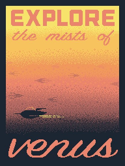 VENUS Space Tourism Travel Poster by sp8cebit