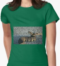Cottonmouth Stare Womens Fitted T-Shirt