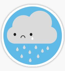 cartoon rain clouds stickers redbubble rh redbubble com personal rain cloud cartoon rain cloud cartoon images
