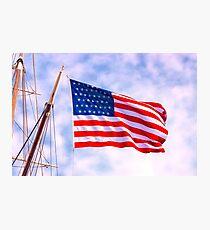 Mystic Memorial Day Flag Photographic Print