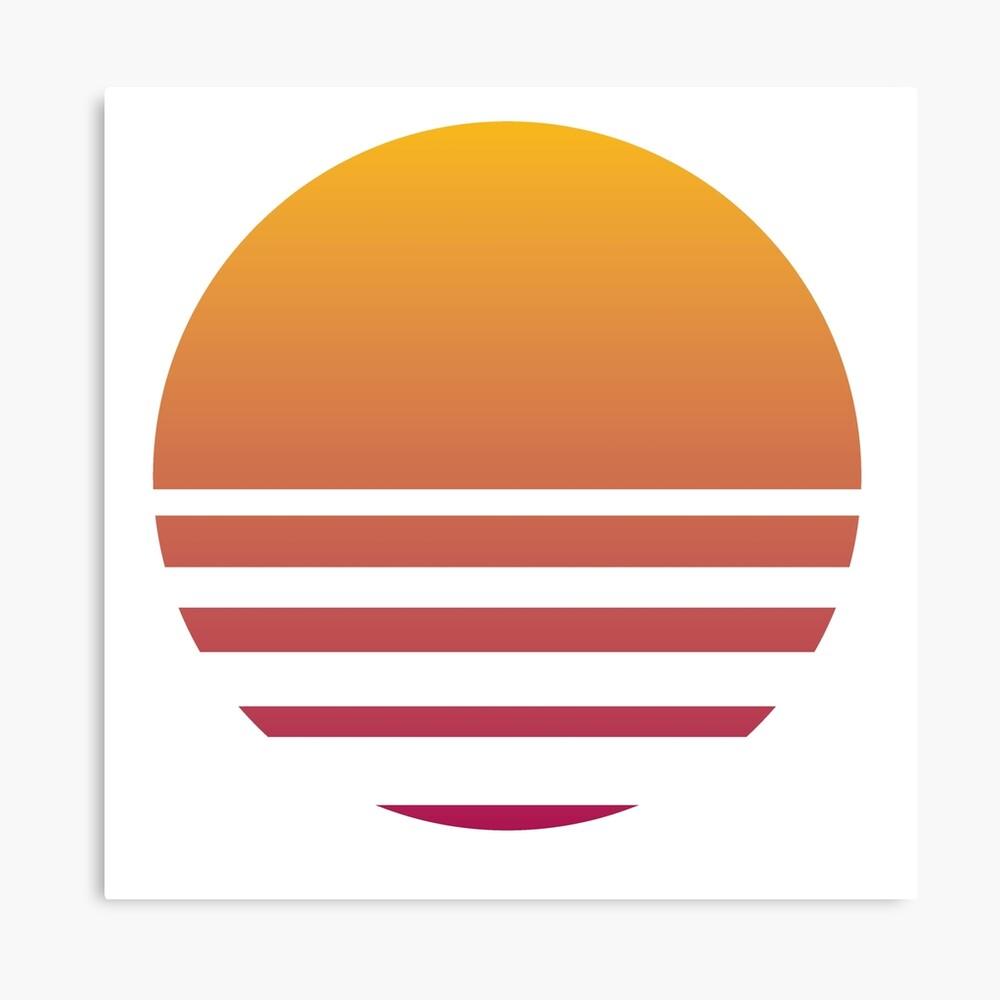 Outrun Retro Sun - Clean Canvas Print