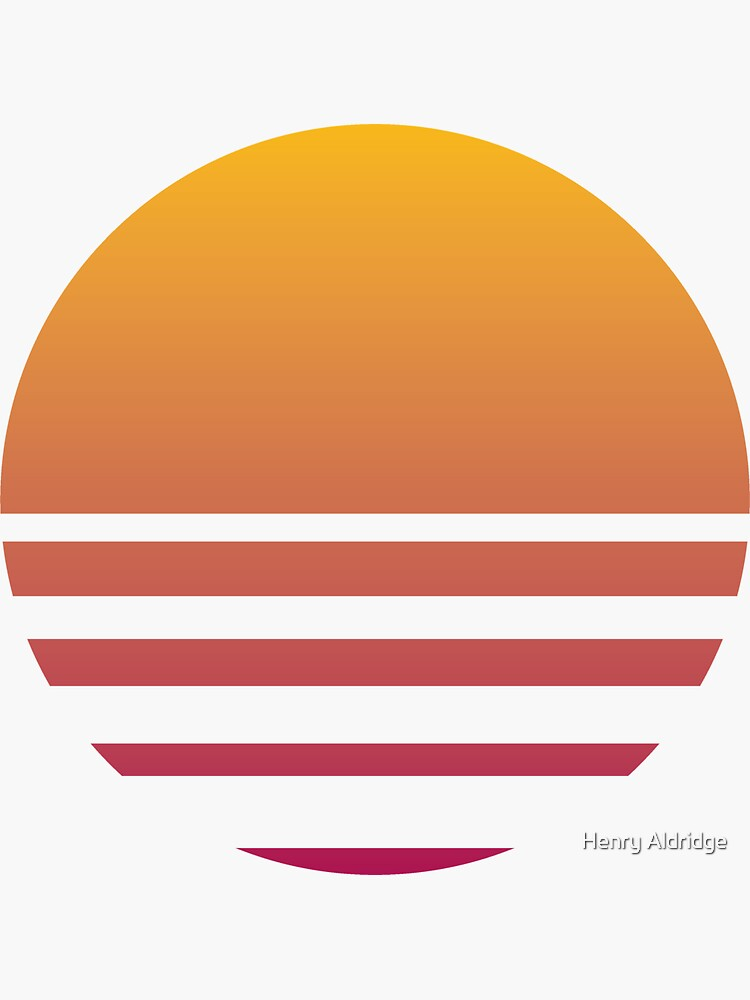 Outrun Retro Sun - Clean by SpicyBasil