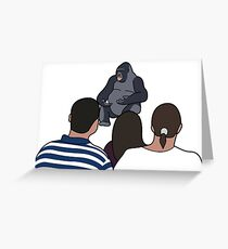 Gorilla saying something important Greeting Card